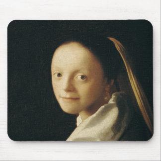 Portrait of a Young Woman, c.1663-65 Mouse Mat