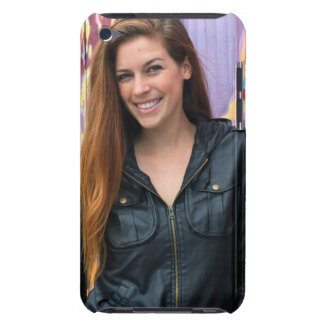 Portrait of a young woman barely there iPod cases