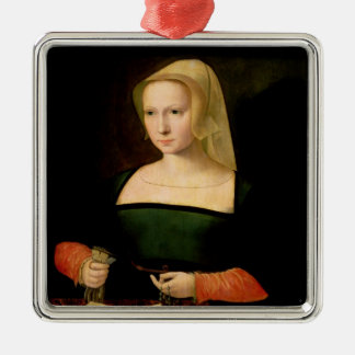 Portrait of a young woman christmas ornament