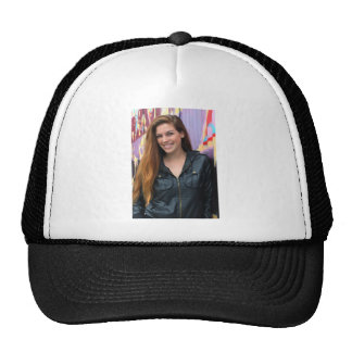 Portrait of a young woman hats