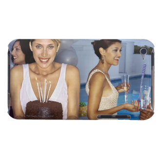 Portrait of a young woman holding a birthday Case-Mate iPod touch case