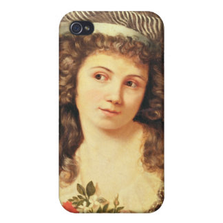 Portrait of a young woman iPhone 4/4S case