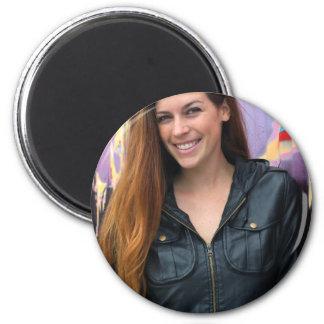 Portrait of a young woman fridge magnet