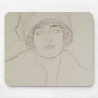 Portrait of a Young Woman Mouse Mat