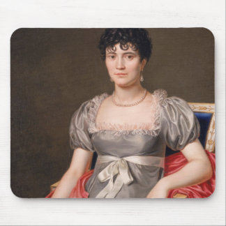 Portrait of a Young Woman Seated Three-Quarter Len Mouse Mat