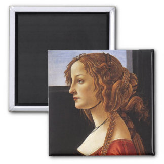 Portrait of a Young Woman Square Magnet