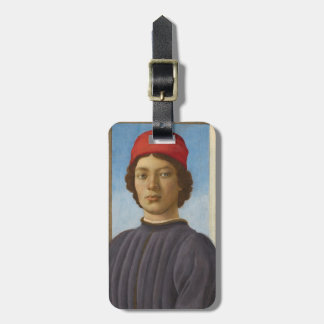 Portrait of a Youth, c.1485 (oil & tempera) Luggage Tag