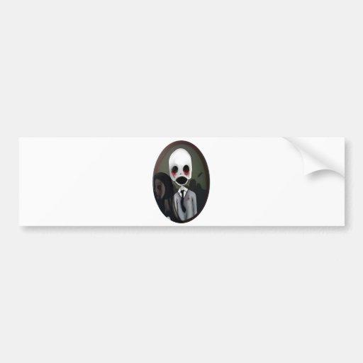 portrait of a zombie car bumper sticker