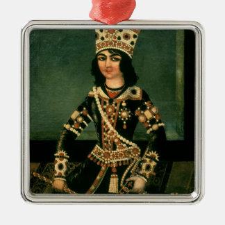 Portrait of Abbas-Minza Silver-Colored Square Decoration