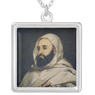 Portrait of Abd el-Kader Silver Plated Necklace