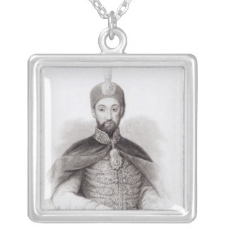 Portrait of Abdulmecit Silver Plated Necklace