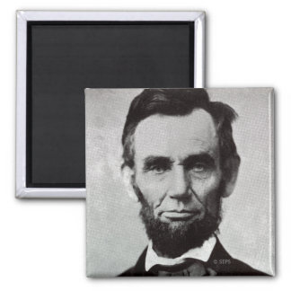 Portrait of Abe Lincoln 2 Square Magnet