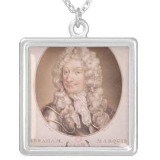 Portrait of Abraham Duquesne Silver Plated Necklace