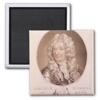 Portrait of Abraham Duquesne Square Magnet