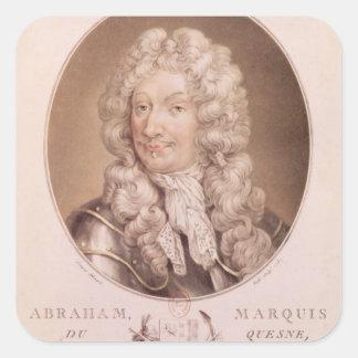 Portrait of Abraham Duquesne Square Sticker