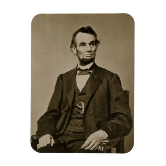 Portrait of Abraham Lincoln (1809-65) (b/w photo) Magnet