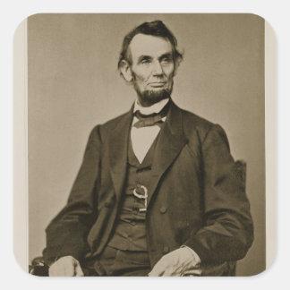 Portrait of Abraham Lincoln (1809-65) (b/w photo) Square Sticker
