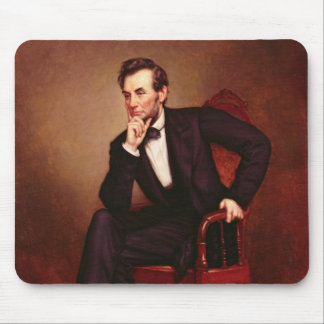 Portrait of Abraham Lincoln Mouse Mat