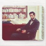 Portrait of Abraham Lincoln Mousepads