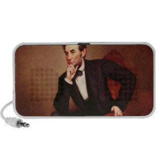 Portrait of Abraham Lincoln Portable Speakers
