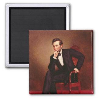 Portrait of Abraham Lincoln Square Magnet