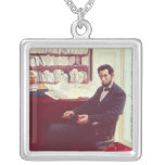 Portrait of Abraham Lincoln Square Pendant Necklace