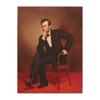 Portrait of Abraham Lincoln Wood Wall Decor