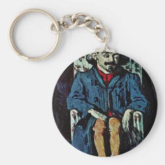 Portrait Of Achille Emperaire By Paul Cézanne Keychains