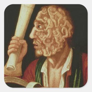 Portrait of Adam (oil) Square Sticker