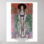 Portrait Of Adele Bloch-Bauer By Gustav Klimt Poster