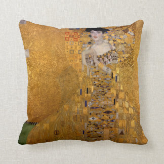 Portrait of Adele Bloch-Bauer by Klimt Cushion
