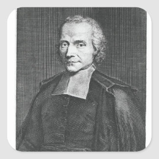 Portrait of Adrien Baillet Square Sticker