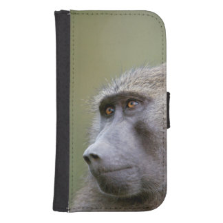 Portrait of adult Olive baboon (Papio anubis) Samsung S4 Wallet Case