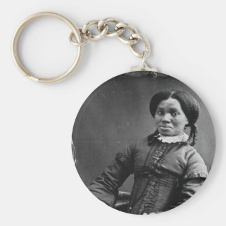 Portrait of African American Woman 1850 Key Chains