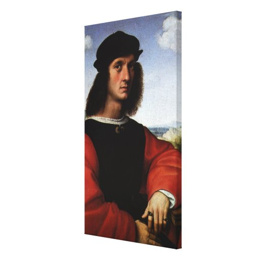 Portrait of Agnolo Doni by Raphael Sanzio Gallery Wrapped Canvas