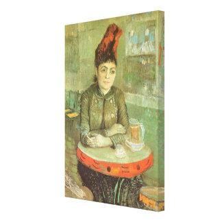 Portrait of Agostina Segatori by Vincent van Gogh Stretched Canvas Prints