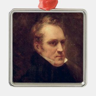 Portrait of Aimable-Guillaume-Prosper Brugiere Silver-Colored Square Decoration