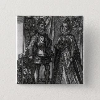 Portrait of Albert, Archduke of Austria 15 Cm Square Badge