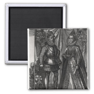 Portrait of Albert, Archduke of Austria Square Magnet