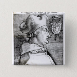 Portrait of Albert, Cardinal Elector of Mainz 15 Cm Square Badge