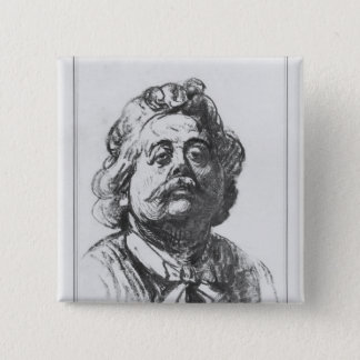 Portrait of Albert Ernest Carrier-Belleuse 15 Cm Square Badge