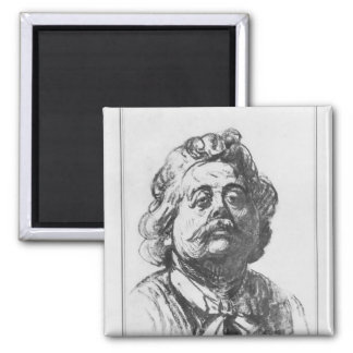 Portrait of Albert Ernest Carrier-Belleuse Square Magnet