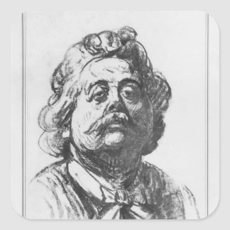 Portrait of Albert Ernest Carrier-Belleuse Square Sticker