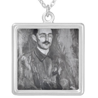 Portrait of Albert Marquet Silver Plated Necklace