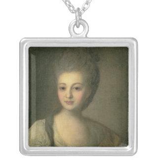 Portrait of Aleksandra P. Struyskaya  1772 Square Pendant Necklace