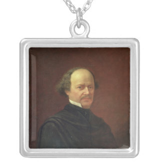 Portrait of Alexander Dargomyzhski, 1869 Silver Plated Necklace