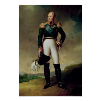 Portrait of Alexander I  1814 Poster