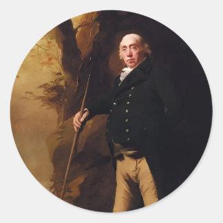 Portrait of Alexander Keith by Henry Raeburn Round Sticker