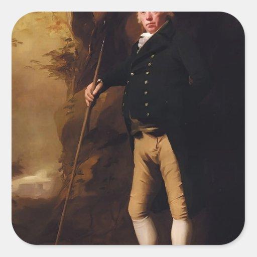Portrait of Alexander Keith by Henry Raeburn Square Sticker