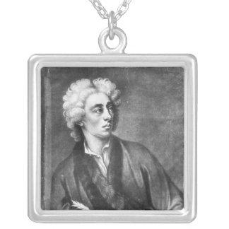 Portrait of Alexander Pope Silver Plated Necklace